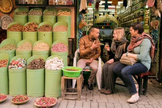 Ashley & Souk in Morocco